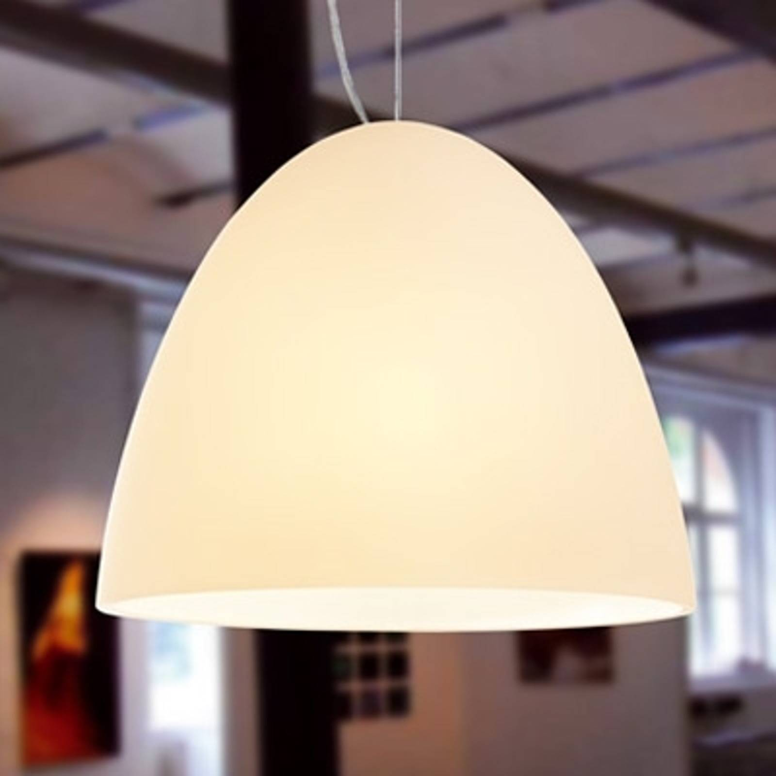 BELL - 1-bulb sand coloured pendant light 30 cm from Casablanca