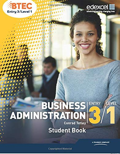 BTEC Entry 3/Level 1 Business Administration Student Book from Edexcel