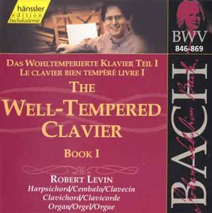 Bach: The Well-Tempered Clavier, Book I, BWV 846-869 (Edition Bachakademie Vol 116) /Levin (harpsichord, clavichord, organ) from HANSSLER CLASSIC