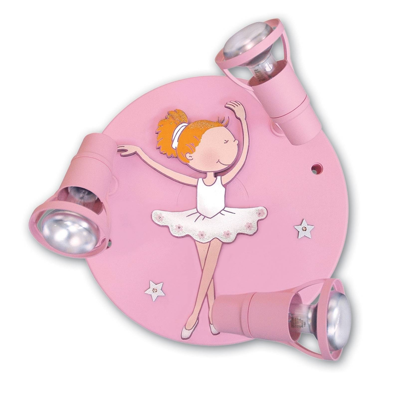 Ballerina ceiling light with three spotlights from Waldi-Leuchten