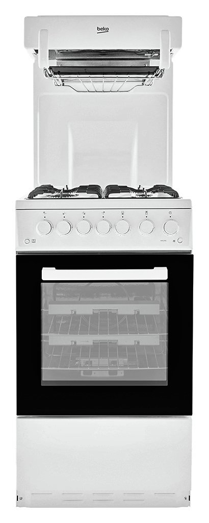 Beko KA52NEW HLG 50cm Single Oven Gas Cooker - White from Beko