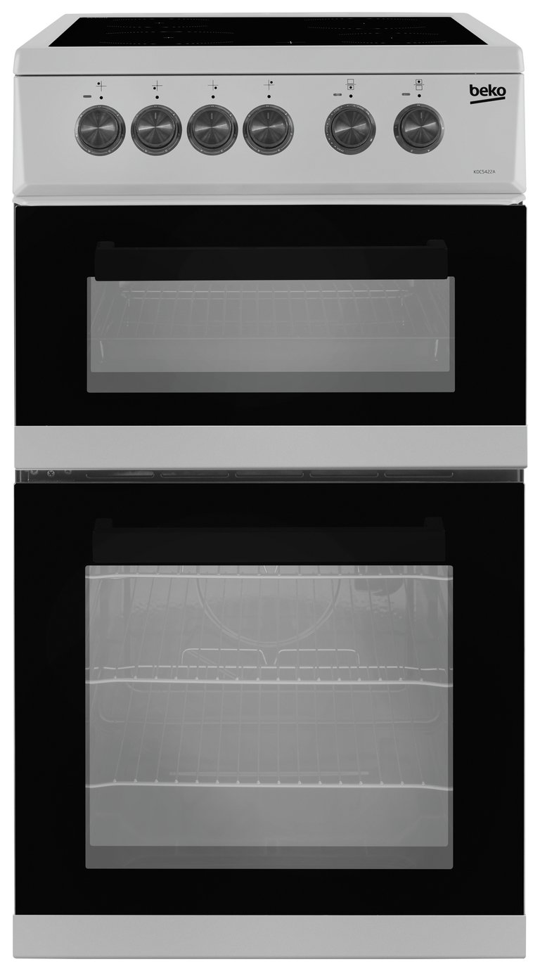 Beko KDC5422AS 50cm Twin Cavity Electric Cooker - Silver from Beko