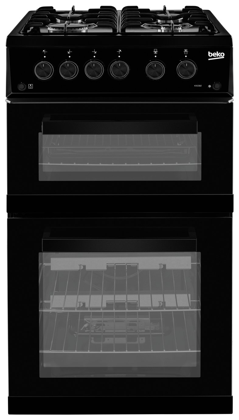 Beko KDG582K 50cm Twin Cavity Gas Cooker - Black from Beko