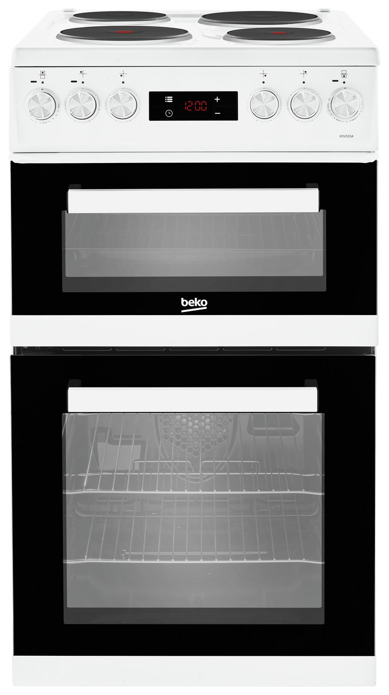 Beko KDV555AW 50cm Double Oven Electric Cooker - White from Beko