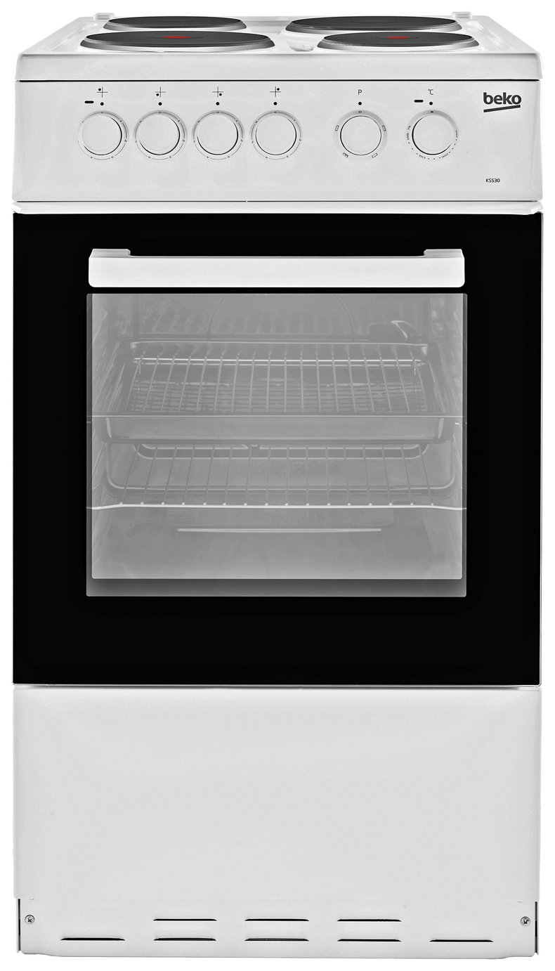 Beko KS530W 50cm Single Oven Electric Cooker - White from Beko