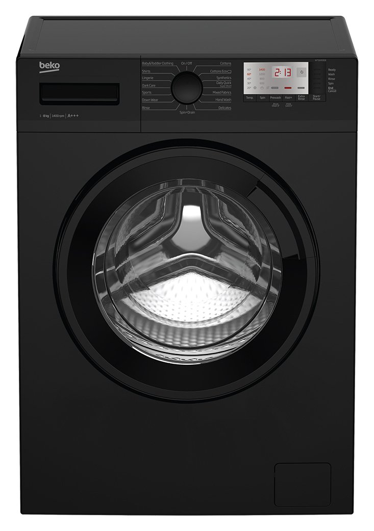 Beko WTG841B1B 8KG 1400 Spin Washing Machine - Black from Beko