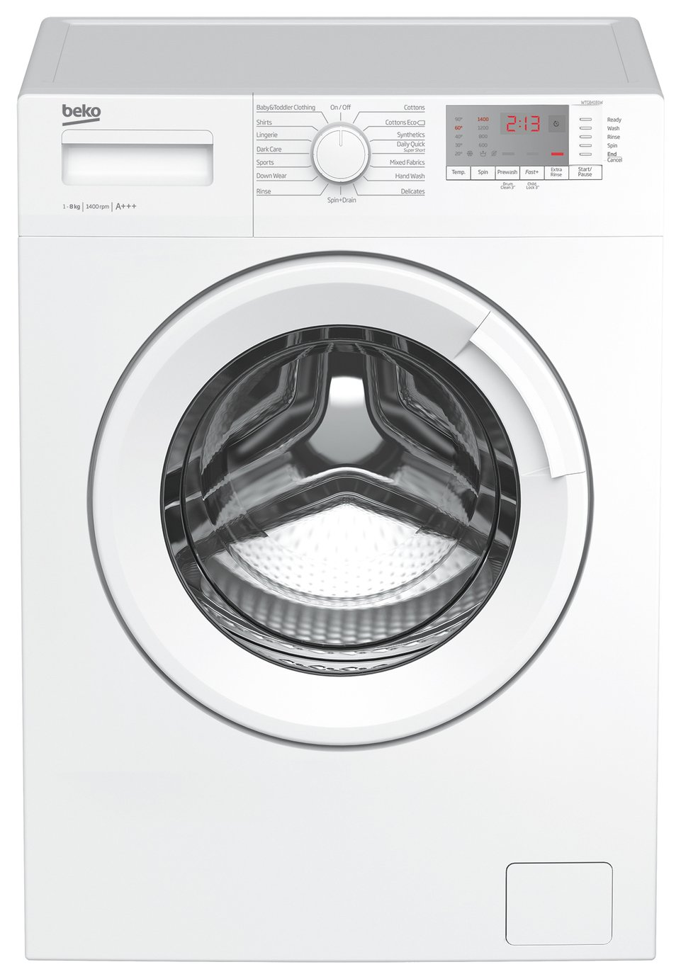 Beko WTG841B1W 8KG 1400 Spin Washing Machine - White from Beko