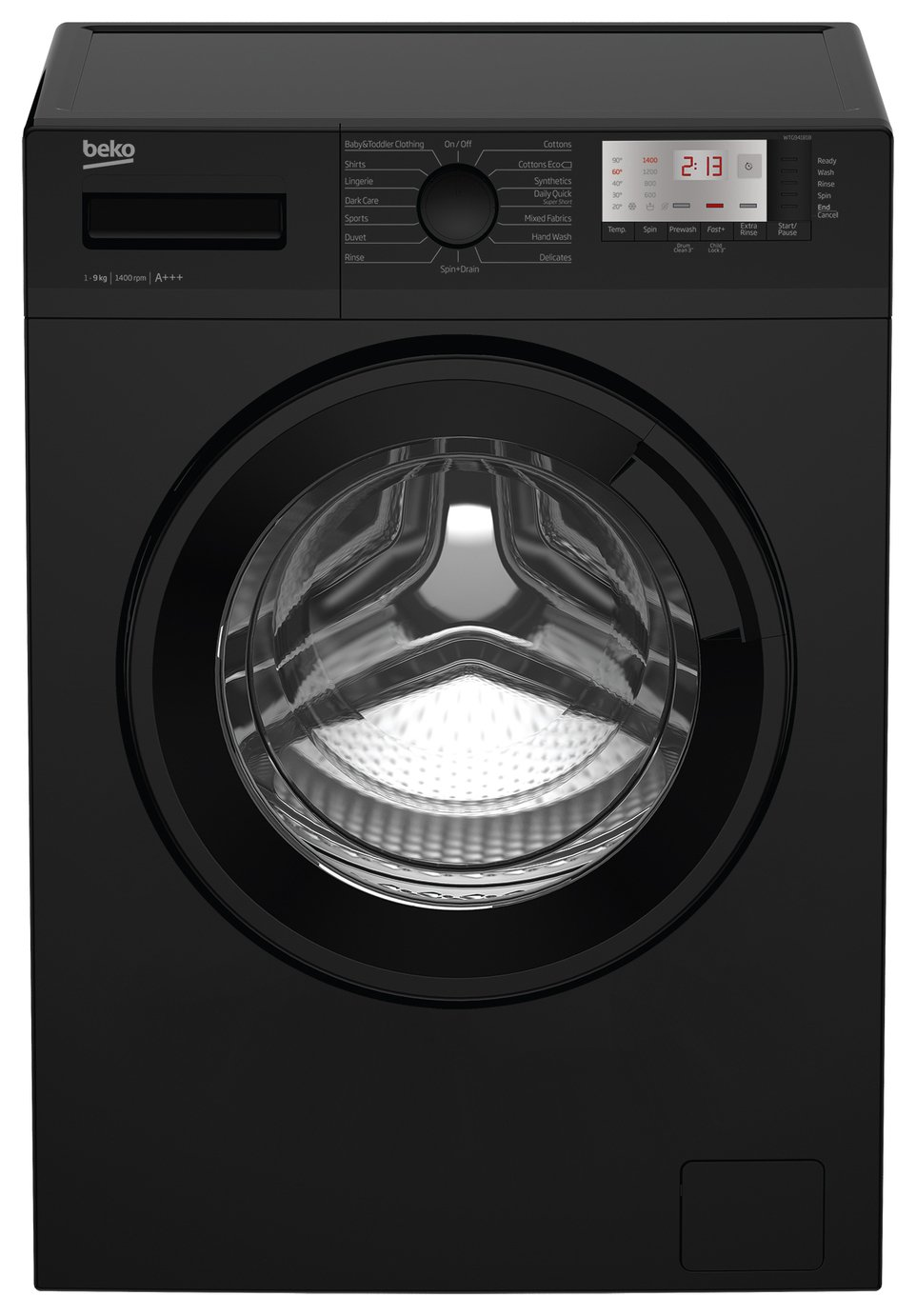 Beko WTG941B1B 9KG 1400 Spin Washing Machine - Black from Beko
