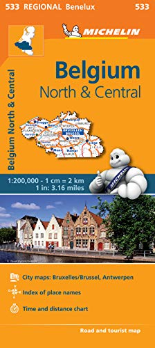 Belgium North & Central - Michelin Regional Map 533: Map (Michelin Regional Maps) from Michelin Editions des Voyages