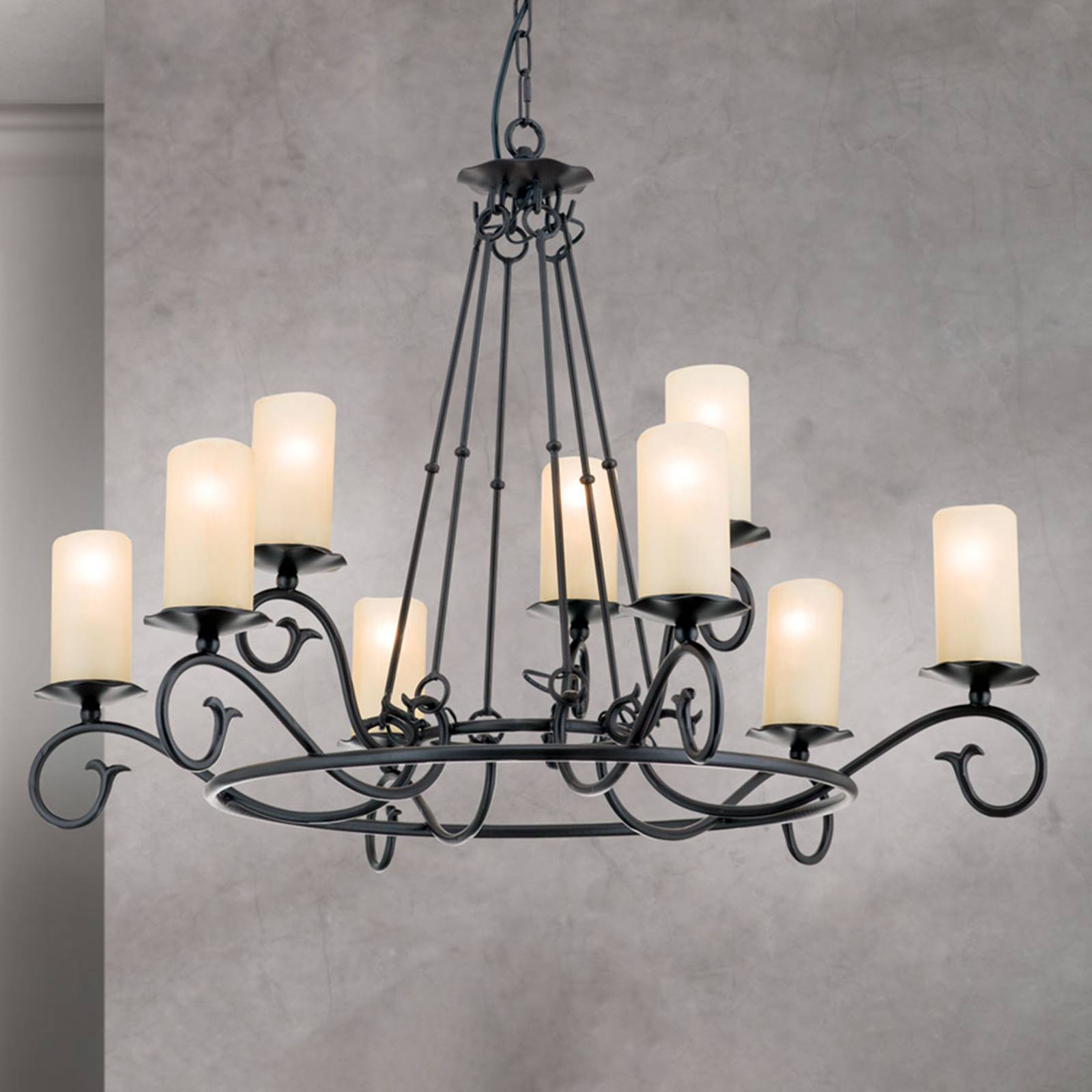 Bente Chandelier Impressive Rustic Style from Orion
