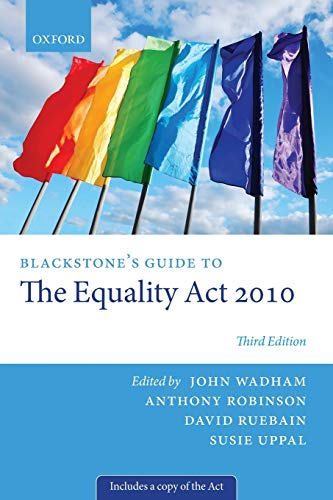 Blackstone's Guide to the Equality Act 2010 (Blackstone's Guides) from Oxford University Press