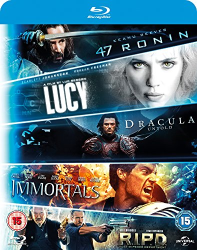 Blu ray 5-Movie Starter Pack: Lucy/Dracula Untold/47 Ronin/Immortals/R.I.P.D [Blu-ray] [2015] [Region Free] from Universal Pictures