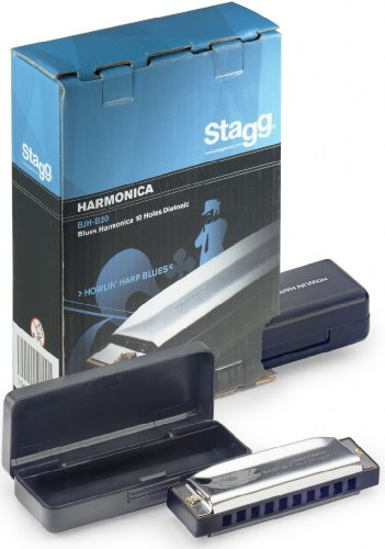 Blues Harp / Bluesmundharmonika in D-Dur by Stagg from Stagg
