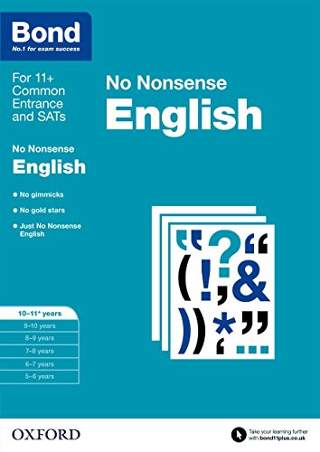 Bond: English No Nonsense: 10-11+ years from OUP Oxford