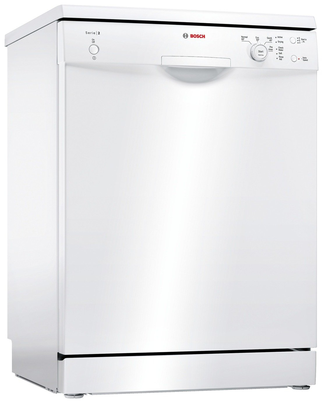 Bosch SMS24AW01G Full Size Dishwasher - White & Installation from Bosch
