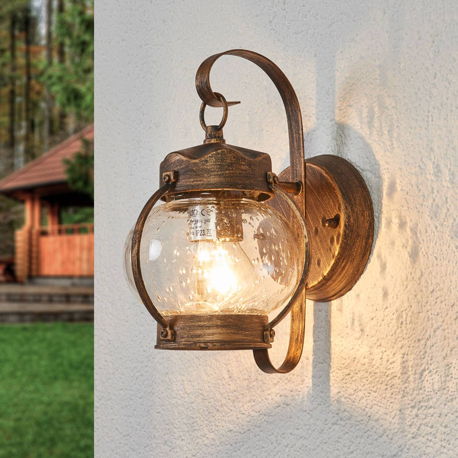 Margerite outdoor wall light with bubble glass from Orion