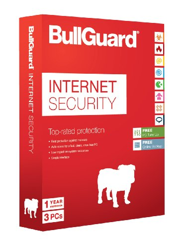 BullGuard Internet Security for Windows PC - 1 Year - 3 User Licence with 5GB of Online Storage from Bullguard