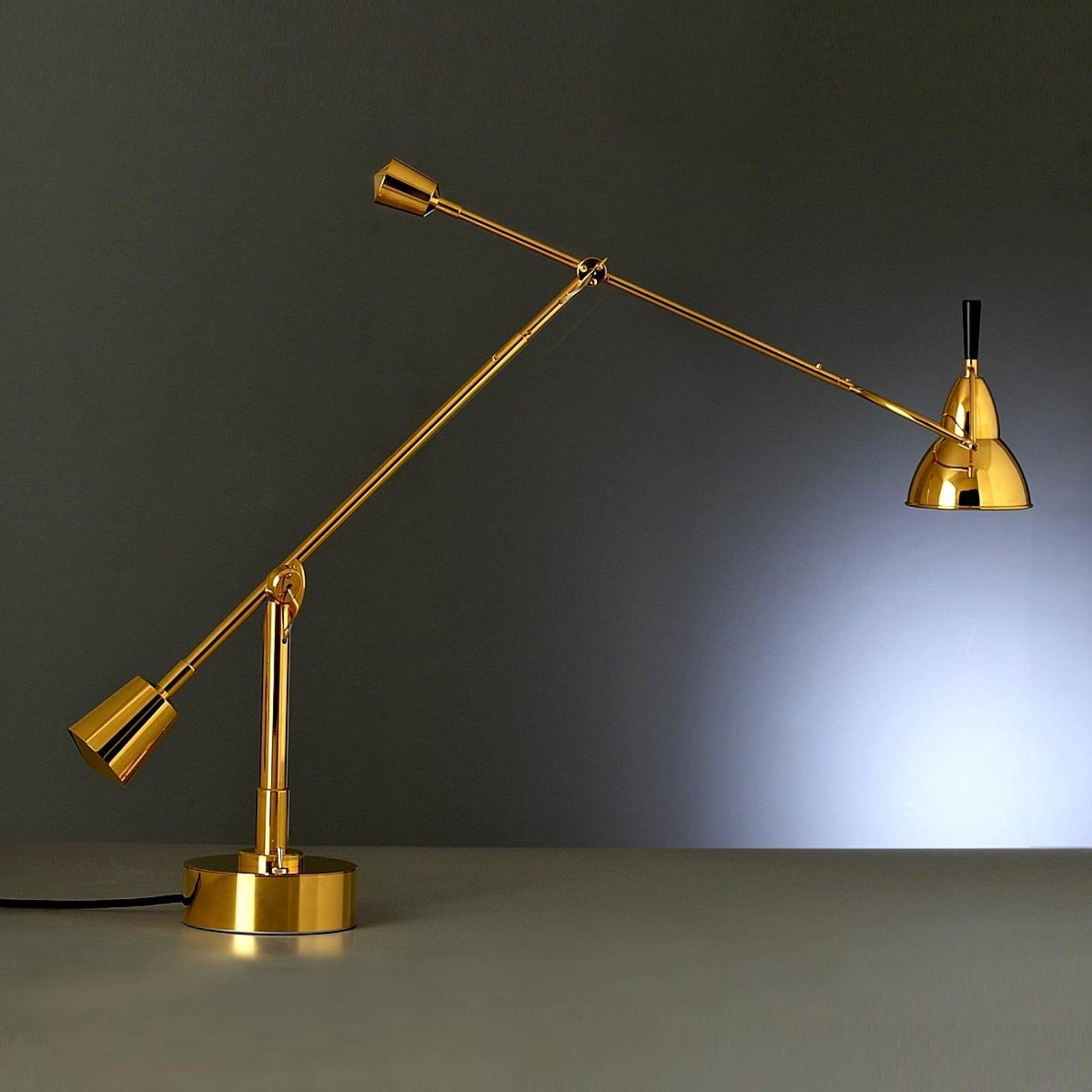 Tecnolumen Buquet table lamp, 24 carat gold-plated from Tecnolumen