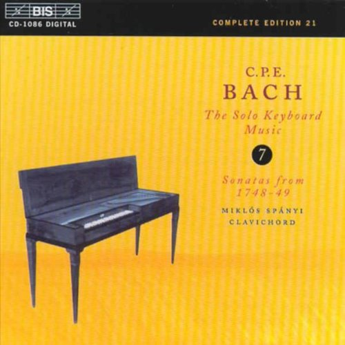 CPE Bach: The Solo Keyboard Music, Vol 7 - Sonatas from 1748-49