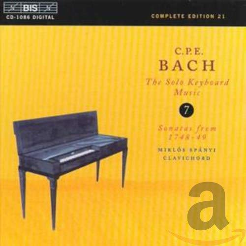 CPE Bach: The Solo Keyboard Music, Vol 7 - Sonatas from 1748-49 from BIS