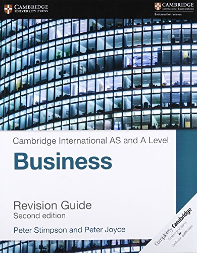 Cambridge International AS and A Level Business Revision Guide from Cambridge University Press