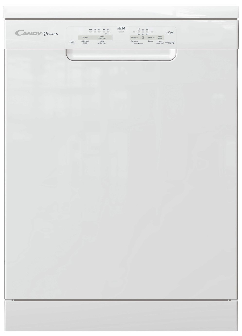 Candy CDP 1DS39W Full Size Dishwasher - White from Candy