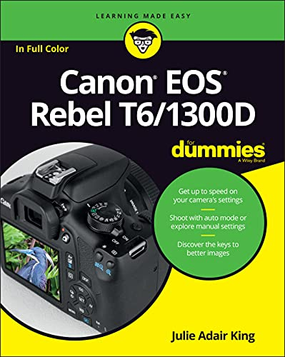 Canon EOS Rebel T6/1300D For Dummies (For Dummies (Lifestyle)) from John Wiley & Sons