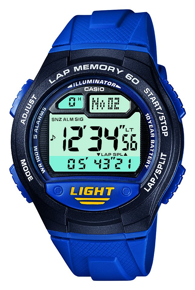 Casio - 60 Lap Memory Blue Strap - Watch from Casio