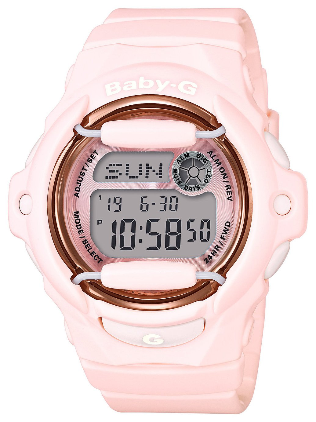 Casio Baby-G Pink World Time Telememo Digital Watch from Baby-G