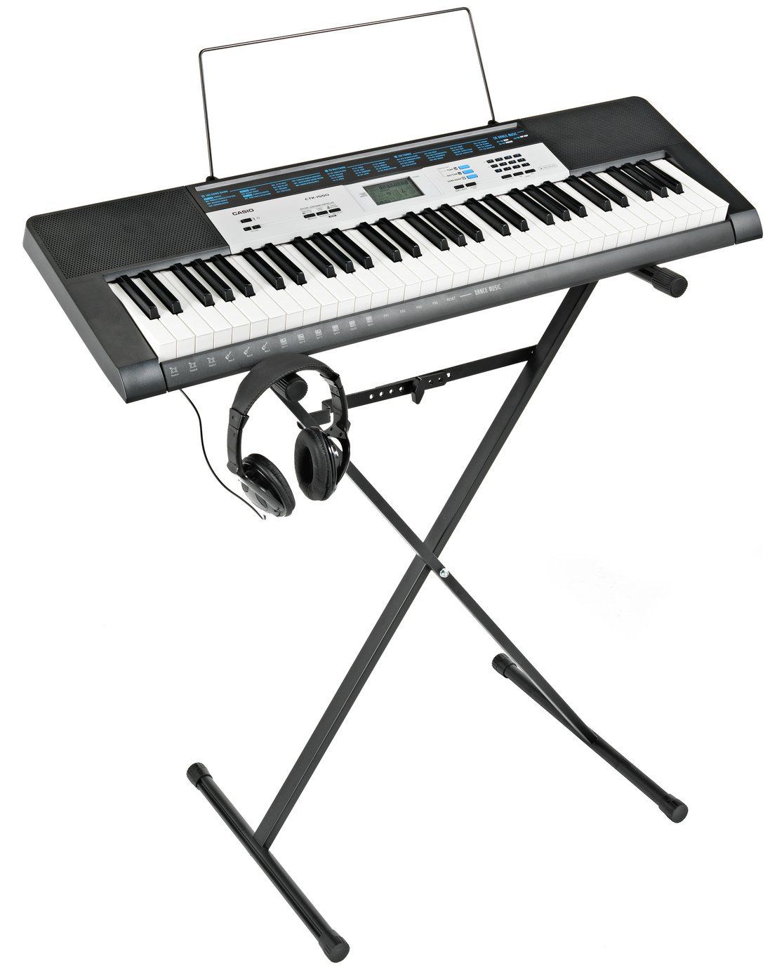 Casio Keyboard, Stand & Headphones Bundle with Free Lessons from Casio