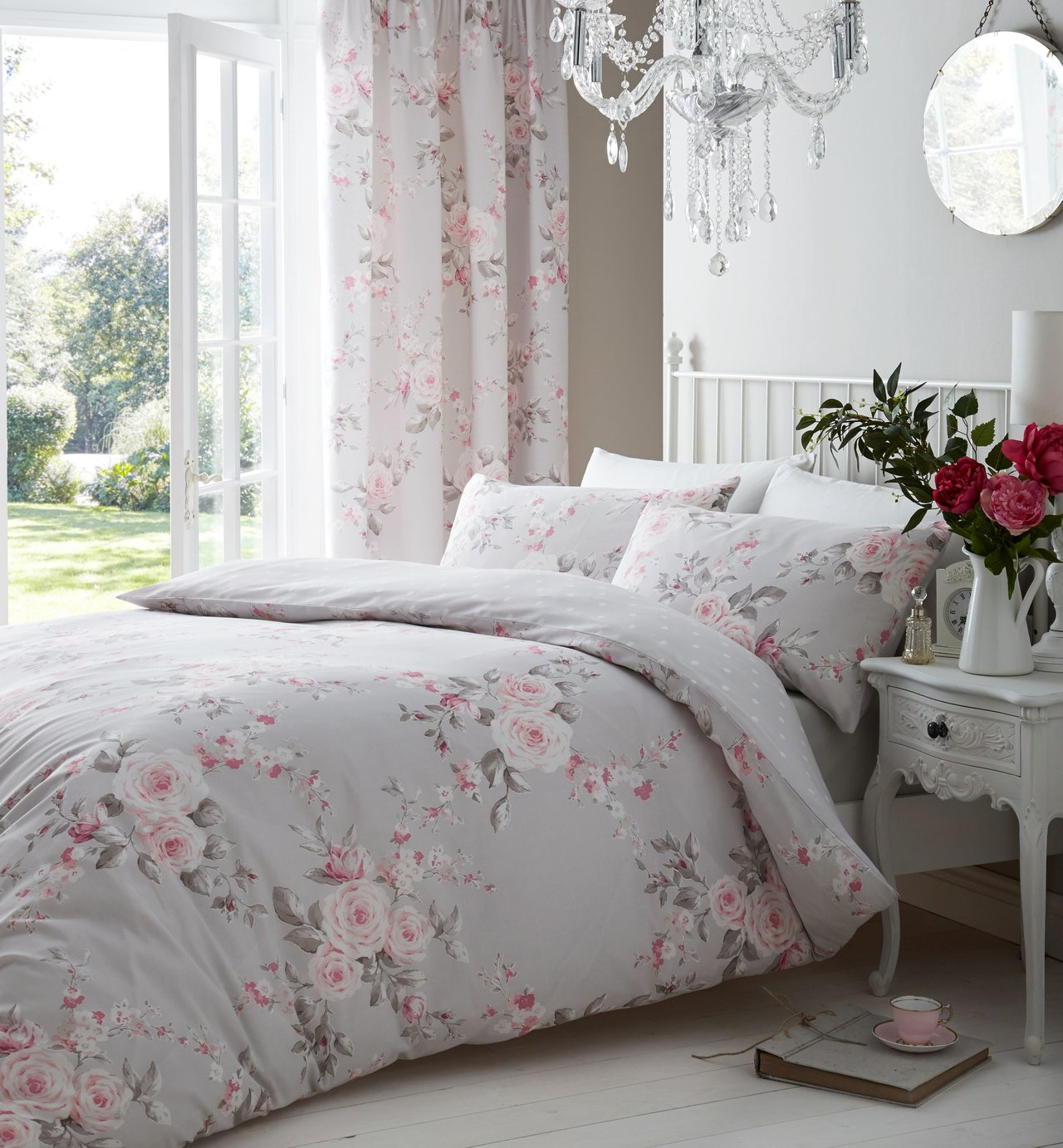 Catherine Lansfield Find Offers Online And Compare Prices At Esprit Quilt Cover Set Geo Astec Super King Size Canterbury Floral Bedding Double Pink From