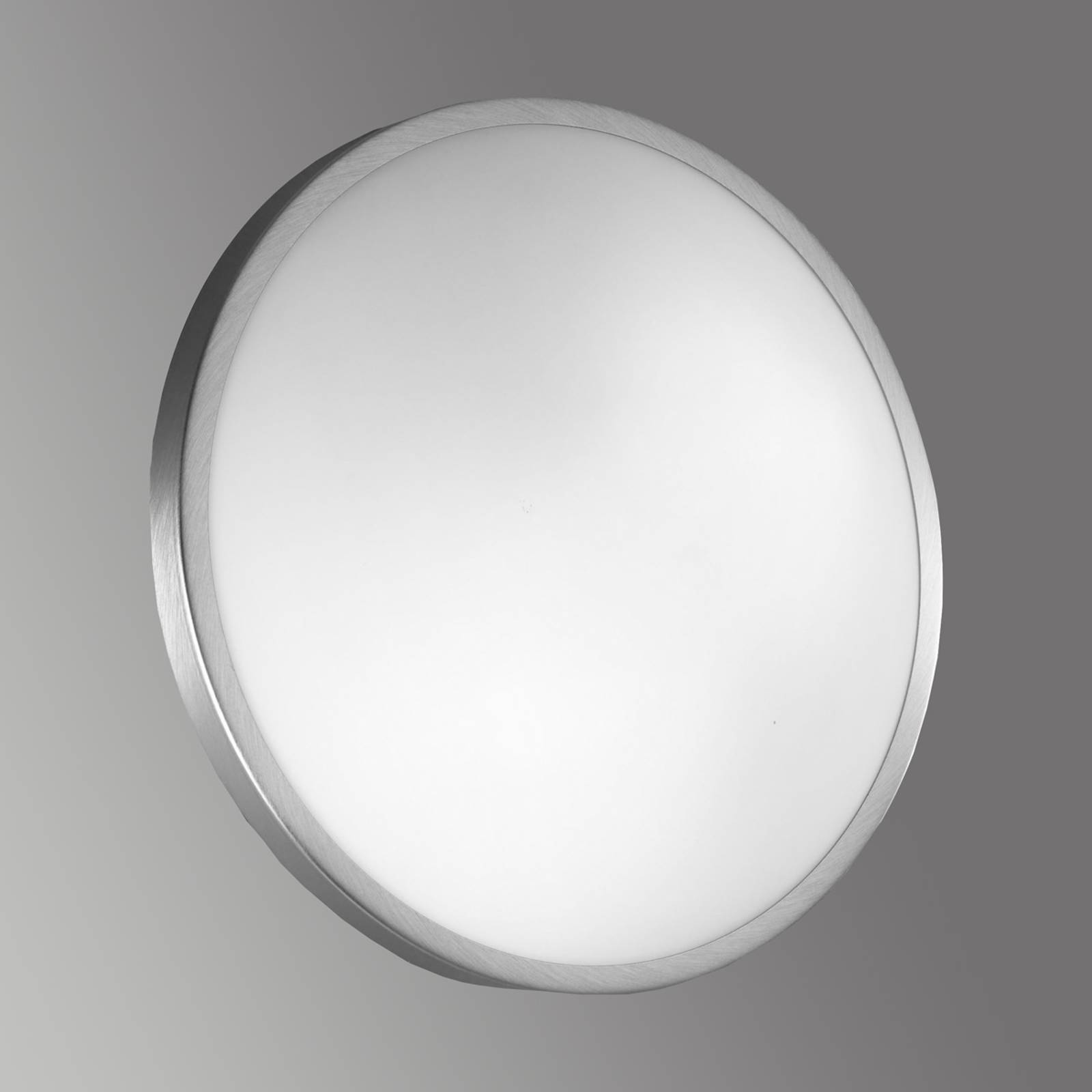 Ceiling & wall light PLAZA, glass 41 cm nickel from FABAS LUCE