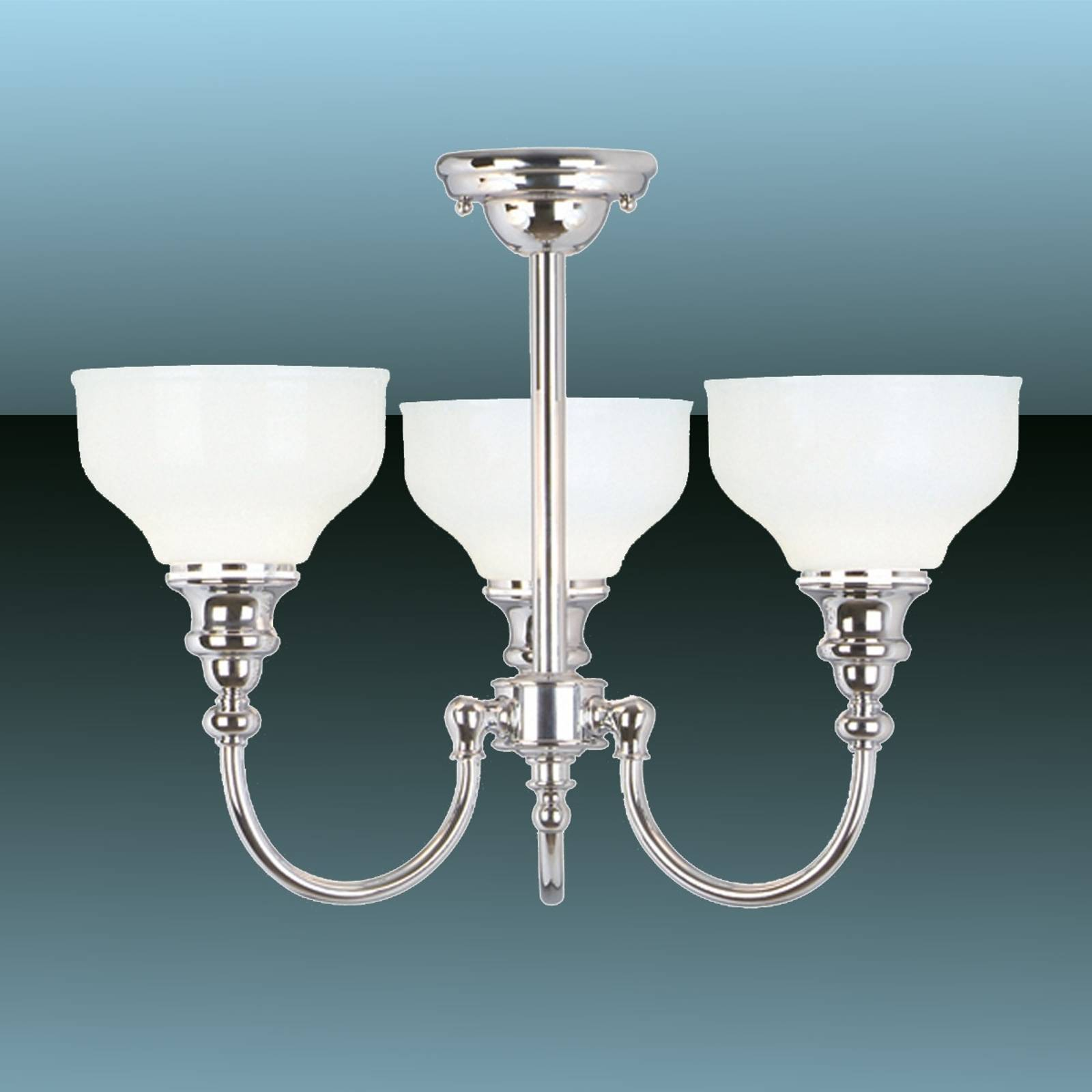 Cheadle Bathroom Ceiling Light Three Bulbs from Elstead