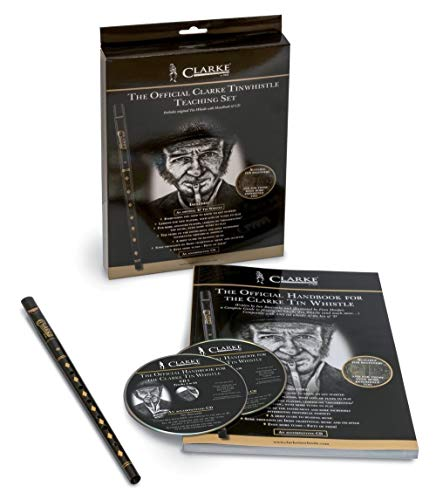 Clarke 700555 Pennywhistle D-tuning Beginner-Set with textbook and CD from Clarke