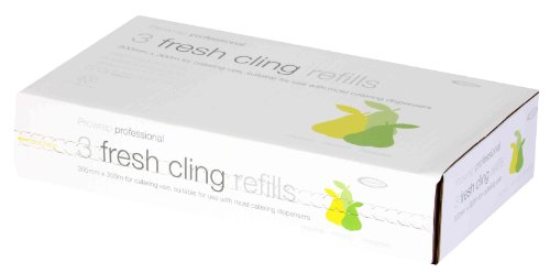 "Cling Film Refill box contains 3 x 12"" rolls (300mm x 300m)"