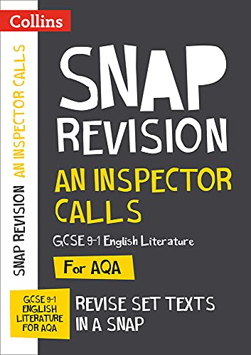 An Inspector Calls: AQA GCSE English Literature Text Guide (Collins Snap Revision) from Collins