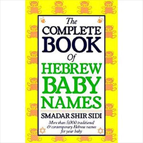 Complete Book of Hebrew Baby Names from HarperOne