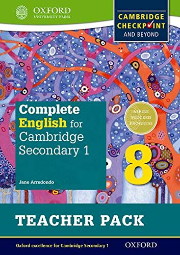 Complete English for Cambridge Lower Secondary Teacher Pack 8: For Cambridge Checkpoint and beyond (Cie Igcse Complete) from Oxford University Press