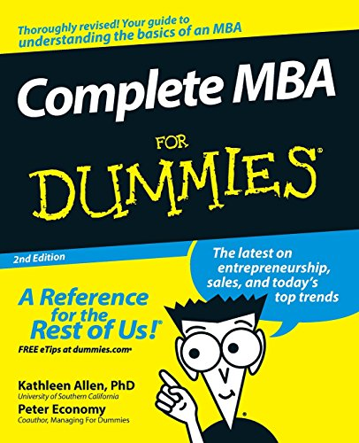 Complete MBA For Dummies 2e from For Dummies