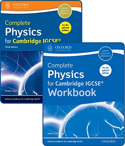 Complete Physics for Cambridge IGCSE® Student Book and Workbook Pack (Cie Igcse Complete) from OUP Oxford