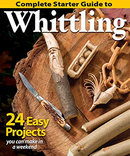 Complete Starter Guide to Whittling: 24 Easy Projects You Can Make in a Weekend (Beginner-Friendly Step-by-Step Instructions, Tips, Ready-to-Carve Patterns to Whittle Toys & Gifts) from Design Originals