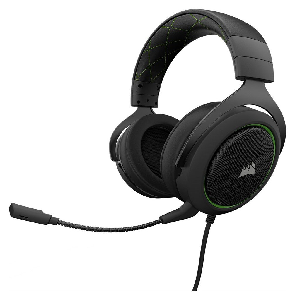 Corsair HS50 Xbox One, PS4, PC Headset - Black & Green from Corsair