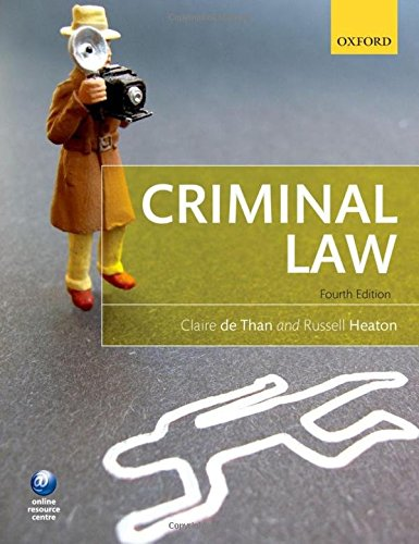 Criminal Law from Oxford University Press, USA