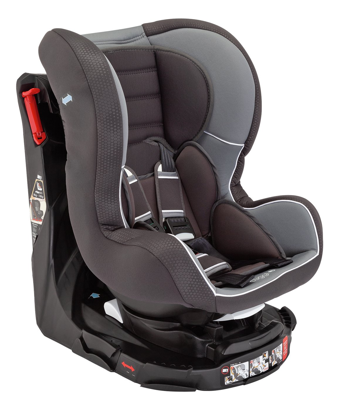 Cuggl Owl Spin Group 0/1/2 Car Seat - Grey from Cuggl