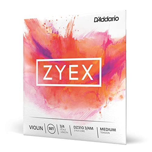 D'Addario 3/4 Scale Medium Tension Zyex Violin String Set from D'Addario