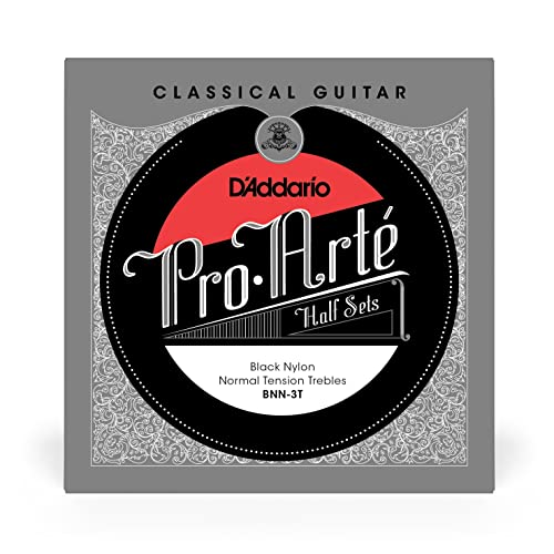 D'Addario BNN-3T Pro-Arte Nylon Treble String Set - Black from D'Addario