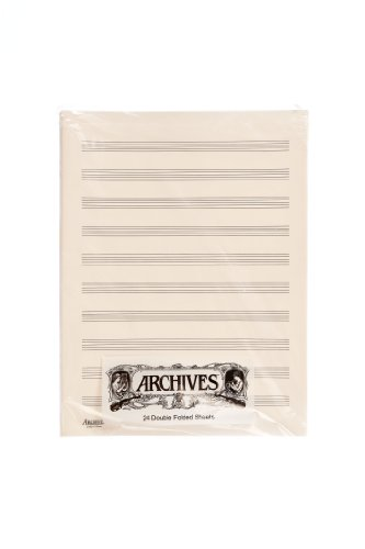 D'Addario D10S Double-Sided Music Sheets 10 Note Bars 24 Sheets from D'Addario