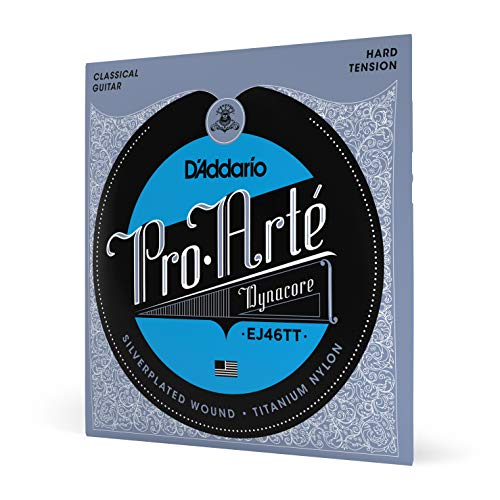 D'Addario EJ46TT ProArte DynaCore Titanium Trebles Hard Tension Classical Guitar Strings from D'Addario