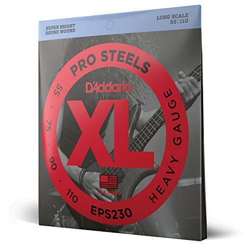 D'Addario EPS230 XL ProSteels Heavy  (.055-.110) Electric Bass Guitar Strings from D'Addario