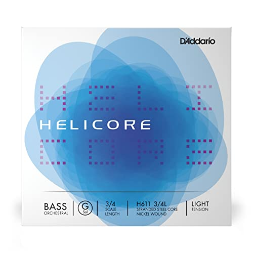 D'Addario Helicore 3/4 Scale Light Tension Orchestral Bass Single G String from D'Addario